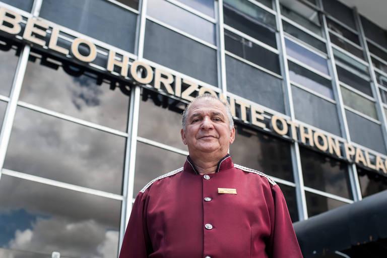 José Eustáquio Pereira, 61, capitão porteiro do hotel na capital mineira que trabalha na unidade desde os 21