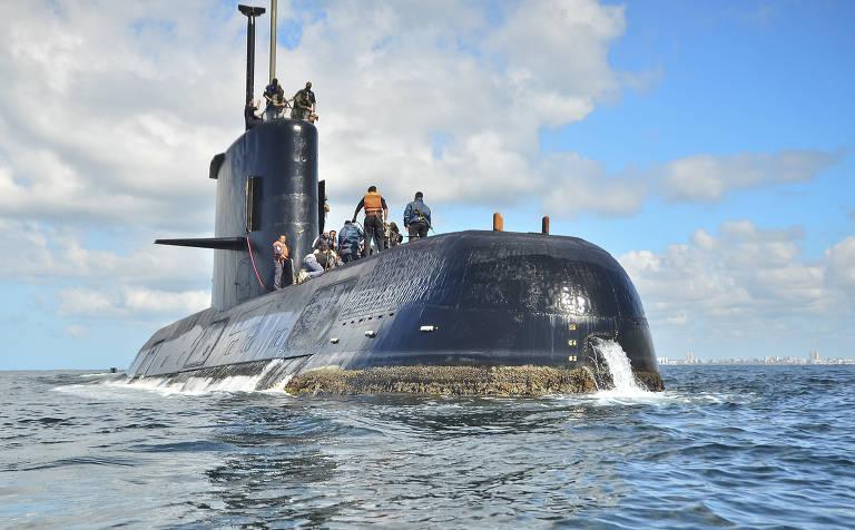 O submarino ARA San Juan, em foto de arquivo