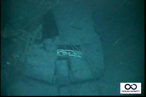 Handout picture released by Argentina's Navy press office on November 17, 2018, showing part of the wreckage of the ARA San Juan submarine located one year after it vanished into the depths of the Atlantic Ocean. - Authorities confirmed the wreckage of the ARA San Juan submarine was found at 907 meters (2,975 feet) of depth, some 500 km from the southern city of Comodoro Rivadavia. (Photo by HO / ARGENTINA'S NAVY PRESS OFFICE / AFP) / RESTRICTED TO EDITORIAL USE - MANDATORY CREDIT