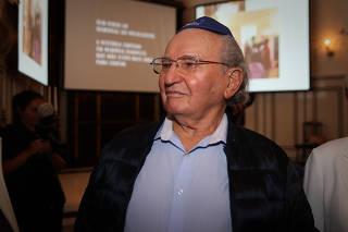 Julio Gartner em evento do Memorial da Imigração Judaica de São Paulo