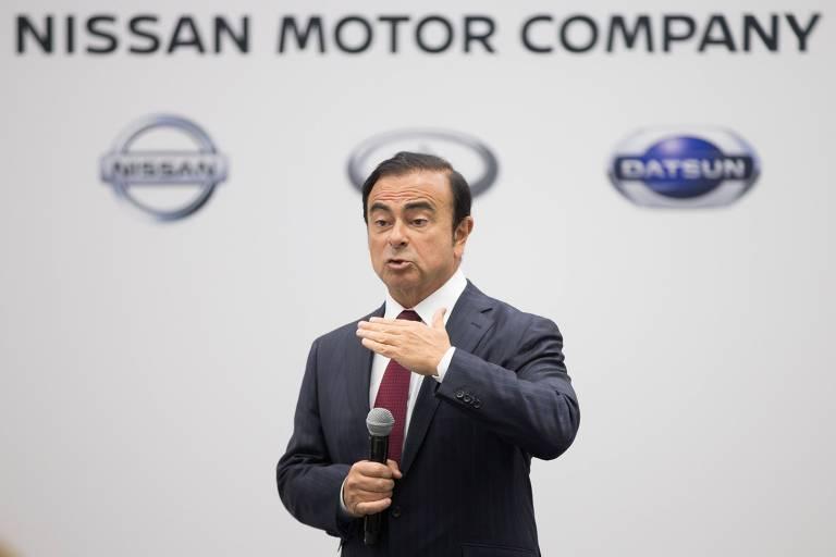 Carlos Ghosn, presidente do conselho de administração da Nissan; ele foi preso por supostas violações financeiras no Japão