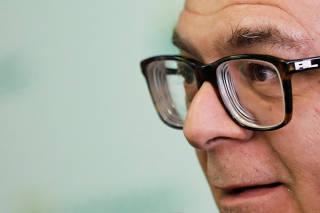 FILE PHOTO: Ivan Monteiro, President of Brazil's state-run oil company Petroleo Brasileiro SA (Petrobras), talks during a news conference in Sao Paulo
