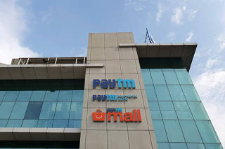 FILE PHOTO: The headquarters for Paytm, India's leading digital payments firm, is pictured in Noida