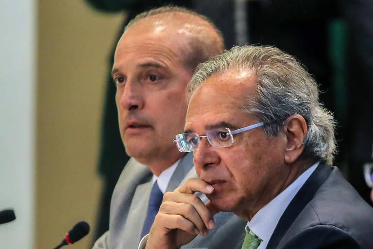 Paulo Guedes, futuro ministro da Economia, e Onyx Lorenzoni, indicado para a Casa Civil; governo quer criar Secretaria de Privatizações