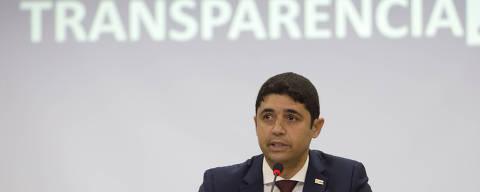 Wagner de Campos Rosário, ministro interino da Transparência e Controladoria-Geral da União (CGU), em evento de lançamento do novo portal da transparência do governo federal