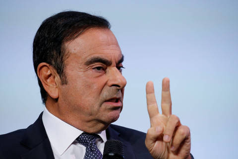 Carlos Ghosn, chairman and CEO of the Renault-Nissan-Mitsubishi Alliance, attends the Tomorrow In Motion event on the eve of press day at the Paris Auto Show, in Paris, France, October 1, 2018. Picture taken October 1, 2018. REUTERS/Regis Duvignau ORG XMIT: GGGDUV17