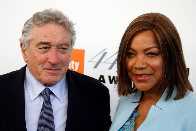 Robert De NIro e a então mulher, Grace Hightower, em evento em Nova York, em 2017