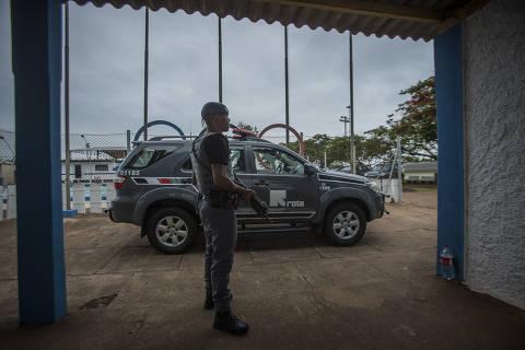 SÃO PAULO, SP, BRASIL. 21/11/2018. Alojamento de policiais da ROTA . Os Militares enviados a Presidente Venceslau para evitar o resgate de Marcos Willians Herbas Camacho, o Marcola, vivem situação precária. (Foto: Jardiel Carvalho/Folhapress) ***EXCLUSIVO FOLHA