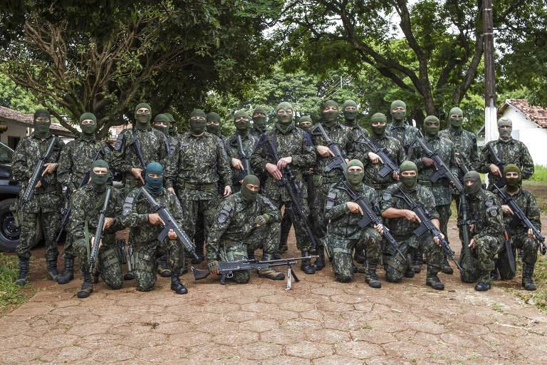 Military Police officers sent to Presidente Venceslau, in the western part of São Paulo state, to prevent the escape of famous drug lord Marcola