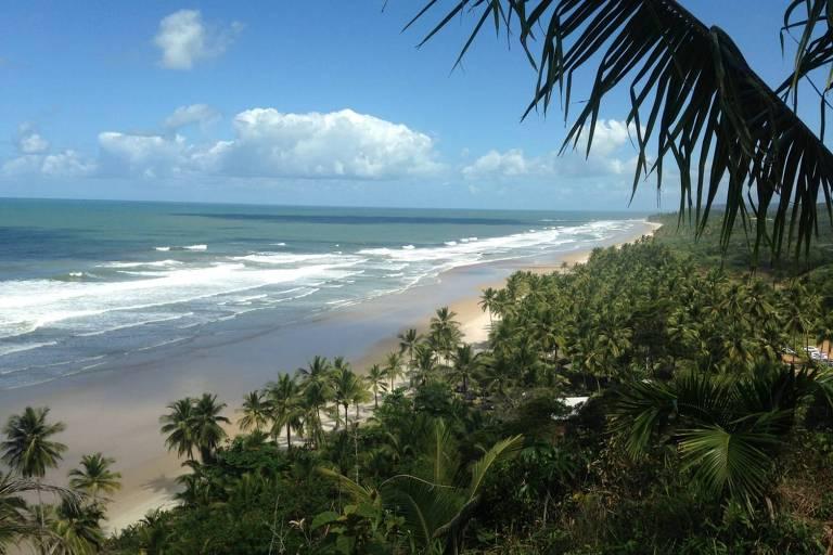 Itacarezinho, na Bahia, em foto feita pela francesa Camille Martha Reis, 33, durante viagem à praia