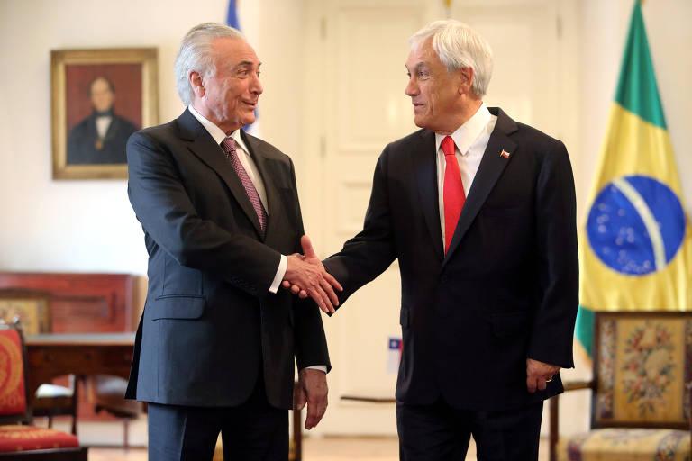 Presidente Michel Temer e o presidente do Chile, Sebastián Piñera