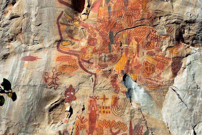 Pinturas rupestres no Parque Nacional Cavernas do Peruaçu