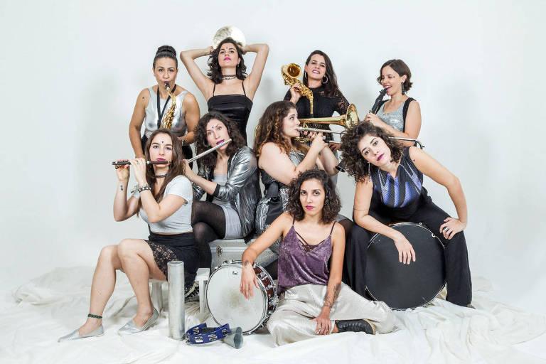Banda Sagrada Profona se apresenta no Sesc Belenzinho com músicas sobre o universo feminino
