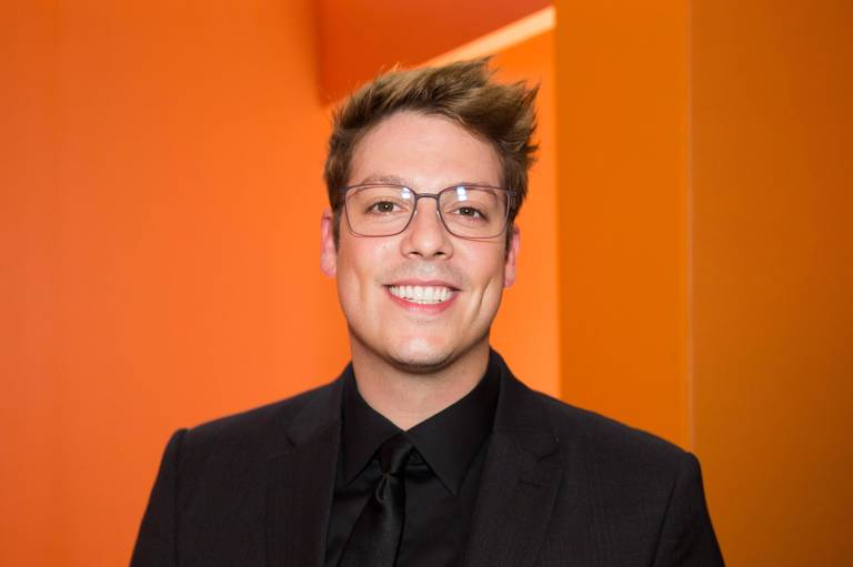 Fabio Porchat no Grande Premio Risadaria Smiles do Humor Brasileiro, em outubro de 2018