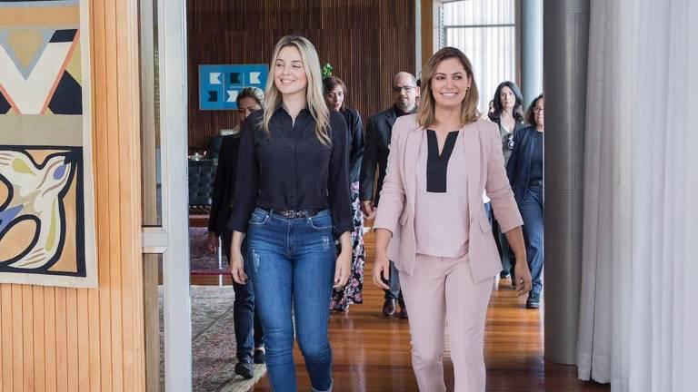Marcela Temer e Michelle Bolsonaro têm encontro no Palácio do Alvorada