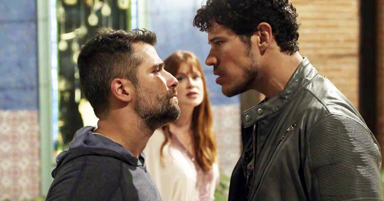 Gabriel e Júnior trocam empurrões por causa de Luz