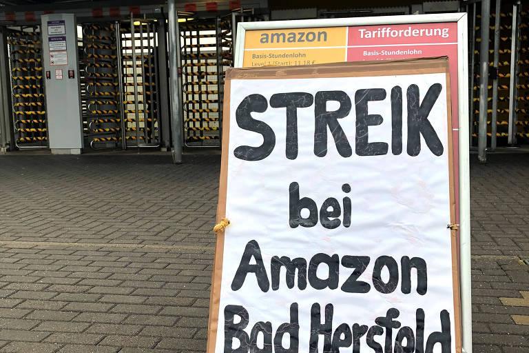 A Amazon Alemanha disse que cerca de 620 trabalhadores participam da greve em suas unidades de Bad Hersfeld