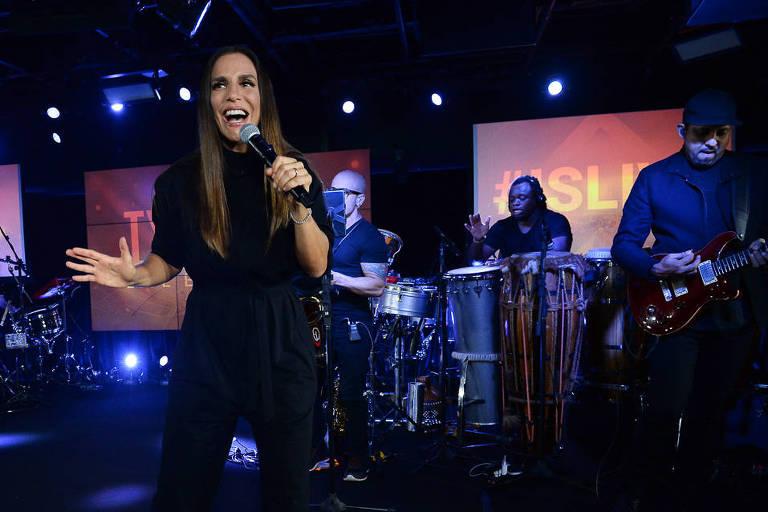Ivete Sangalo faz shows para convidados e anuncia gravação de novo DVD