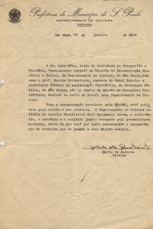 Registros da missão de Mario de Andrade
