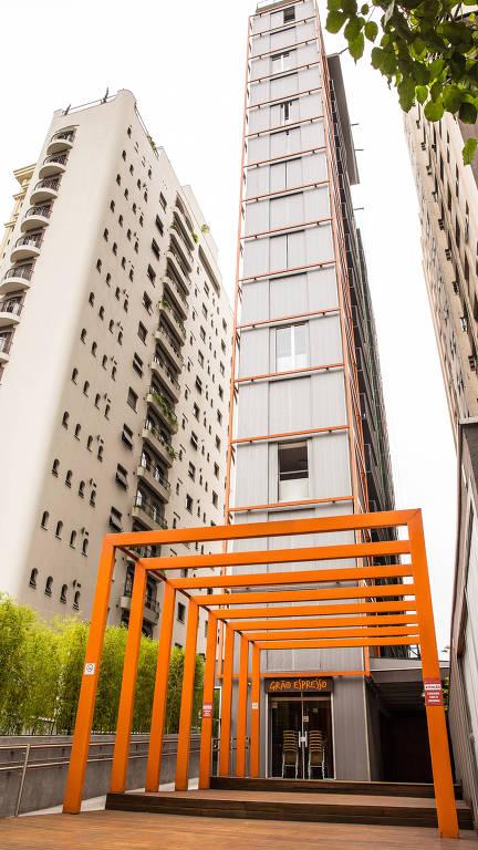 Fachada do prédio VN Campinas, da construtora Vitacon