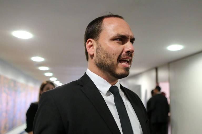 O vereador Carlos Bolsonaro (PSC-RJ), filho de Bolsonaro, que cuidou das redes sociais do pai durante a eleição