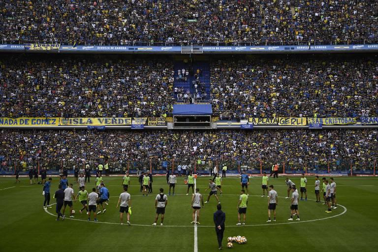 6e18cca59c Torcida do Boca lotou a Bombonera para assistir ao treino aberto da equipe  na quinta (