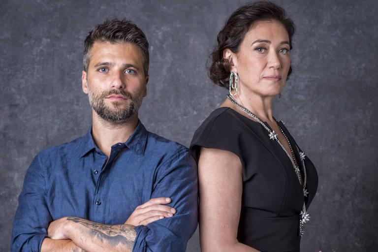 """Gabriel (Bruno Gagliasso) e Valentina (Lilia Cabral) de """"O Sétimo Guardião"""""""