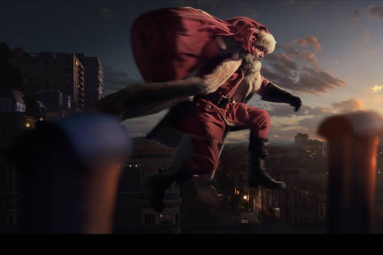 Cena de 'Crônicas de Natal', filme da Netflix com Kurt Russell