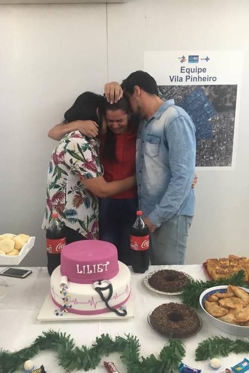 Despedida da médica cubana Liliet Cruz