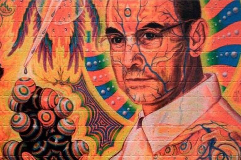 Retrato do químico suíço Albert Hoffman, que acidentalmente descobriu as propriedades alucinógenas do LSD em 1943
