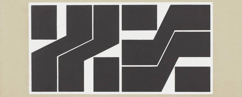 Obra de Hélio Oiticica exposta na mostra 'Spatial Relief and Drawings', em Nova York