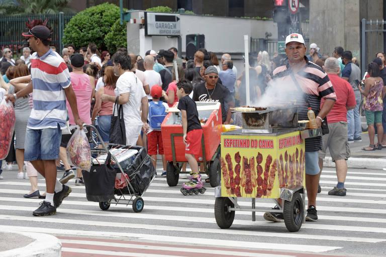 Ambulantes na Paulista