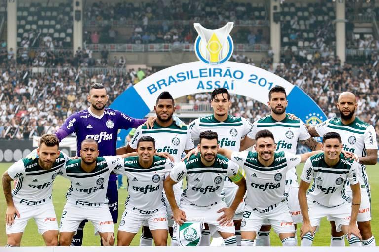 Titulares do Palmeiras na partida que rendeu o título brasileiro para a equipe