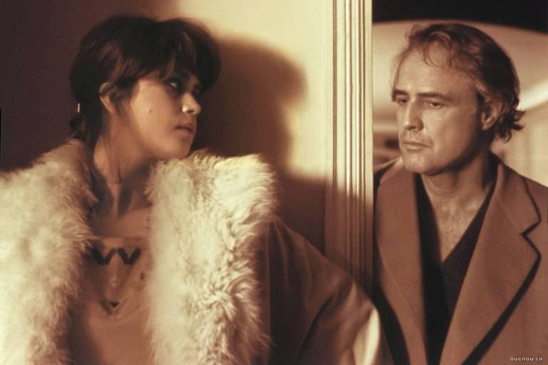 """Marlon Brando e Maria Schneider em """"O Último Tango em Paris"""""""