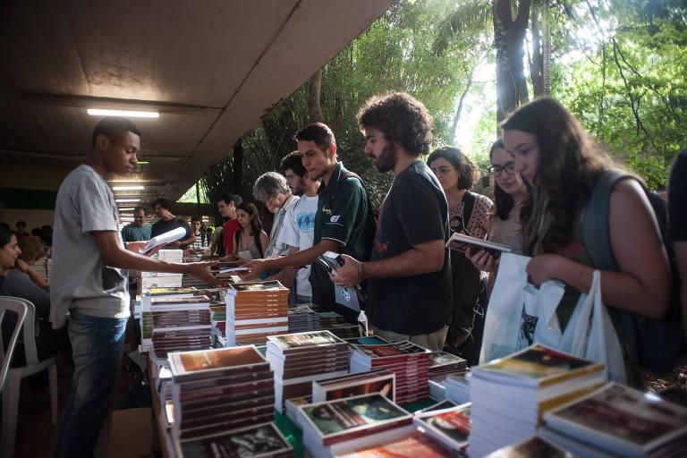 Festa do livro USP, em 2014