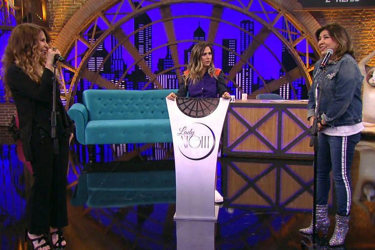 Elba Ramalho e Roberta Miranda em ação no 'Lady Night' que vai ao nessa terça (27) de novembro