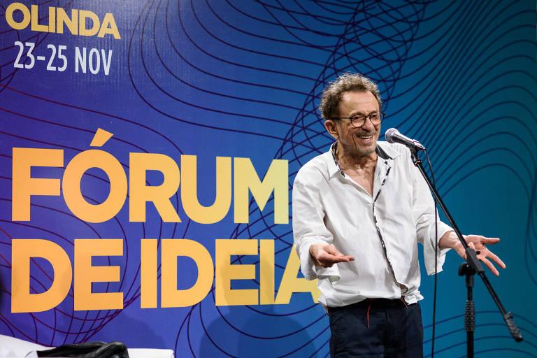 Tom Zé fez Fórum de Ideias divertido no Mimo