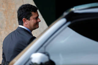 Sergio Moro, future justice minister, is seen after a meeting with Brazil's President-elect Jair Bolsonaro at the transition government building in Brasilia