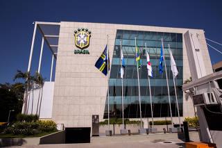 Fachada da sede da CBF no Rio