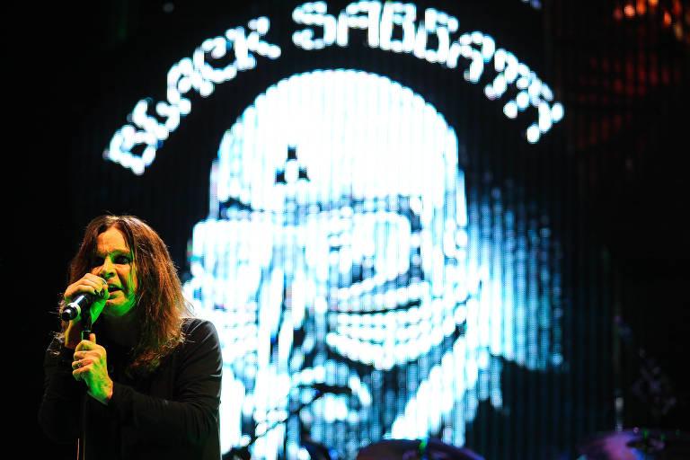 Show da banda britânica Black Sabbath no Campo de Marte, em São Paulo