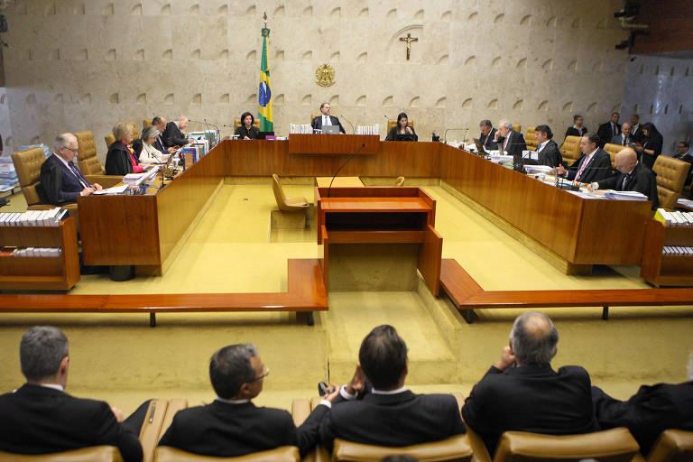 Sessão plenária do Supremo Tribunal Federal na última quarta-feira (28)