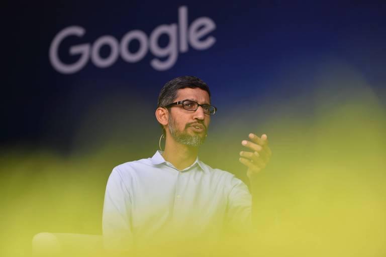 Sundar Pichai, presidente-executivo do Google; companhia recebe críticas por desenvolver motor de buscas adaptado à China