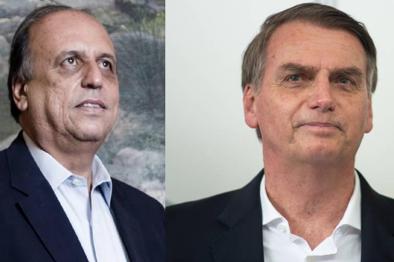 O governador fluminense afastado Luiz Fernando Pezão e o presidente eleito Jair Bolsonaro