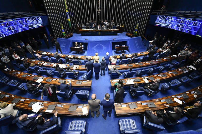 Plenário do Senado Federal durante sessão deliberativa ordinária