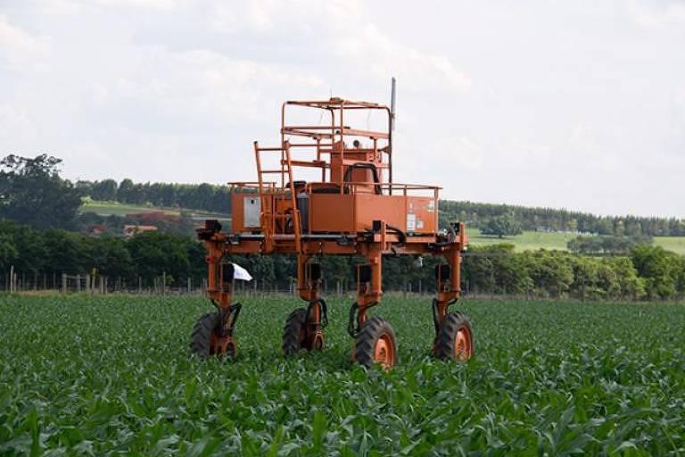 Robô usado no agronegócio