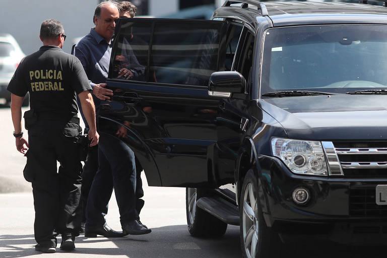 O governador do Rio de Janeiro, Luiz Fernando Pezão (MDB), preso durante operação da Polícia Federal