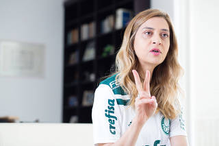 Leila Pereira durante entrevista à Folha