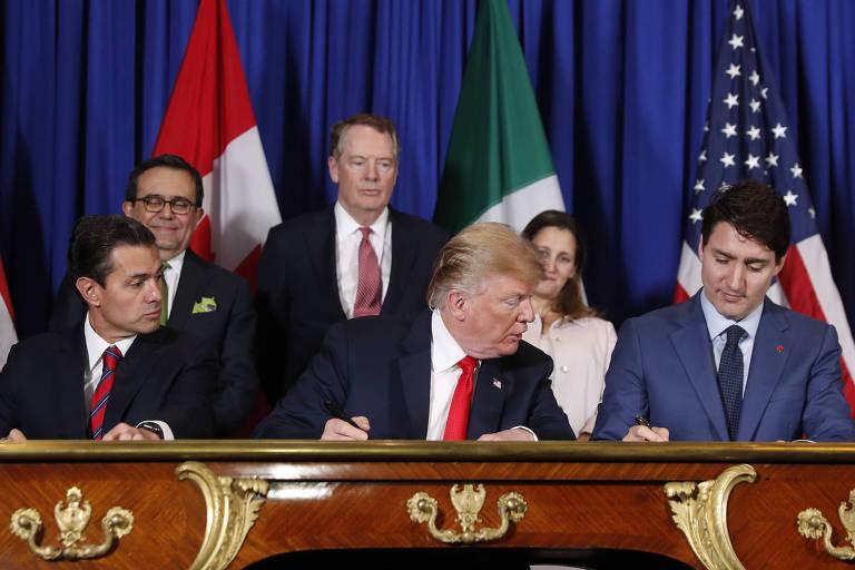 EUA, México e Canadá assinam autorização para novo Nafta