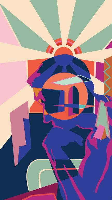 Ilustração colorida