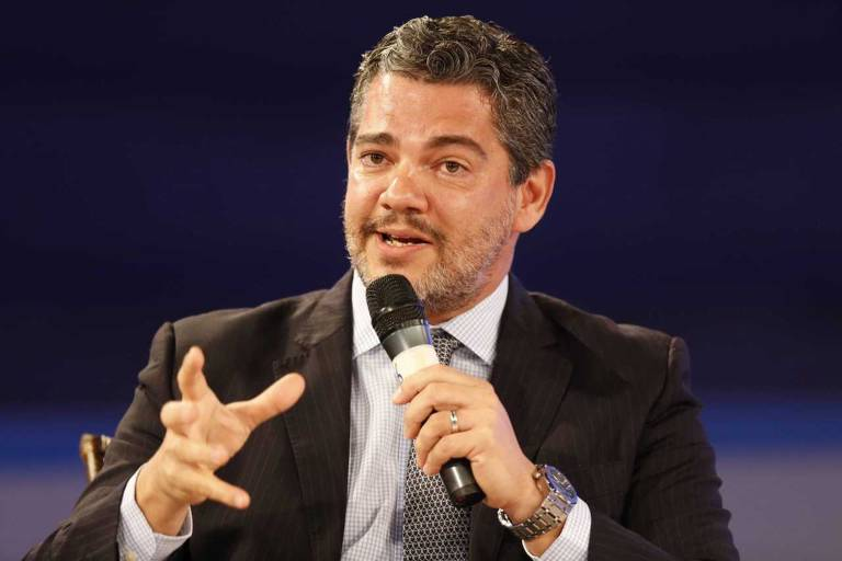 Marcos Troyjo, diretor do BRICLab da Universidade da Columbia, durante o Forum de Exportação promovido pela Folha